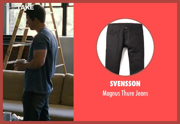 Svensson black jeans from Contraband seen with Mark Wahlberg (Chris Farraday)
