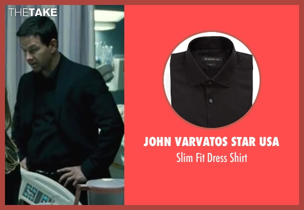 John Varvatos Star USA black shirt from Contraband seen with Mark Wahlberg (Chris Farraday)