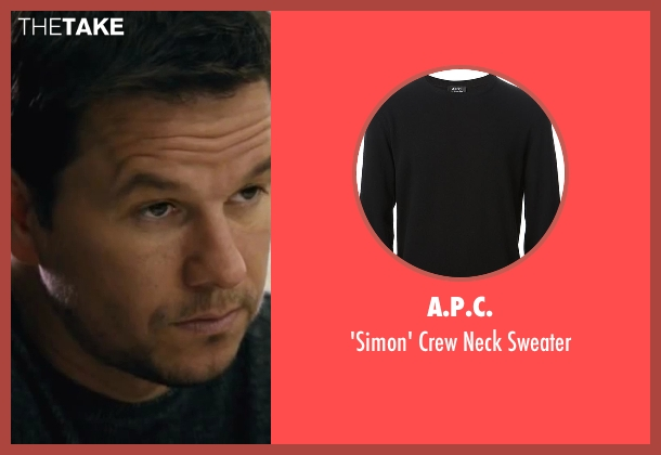 A.P.C. black sweater from Contraband seen with Mark Wahlberg (Chris Farraday)