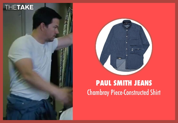 Paul Smith Jeans blue shirt from Contraband seen with Mark Wahlberg (Chris Farraday)