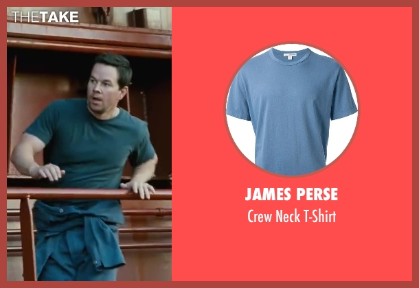 James Perse blue t-shirt from Contraband seen with Mark Wahlberg (Chris Farraday)