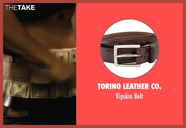 Torino Leather Co. brown belt from Contraband seen with Mark Wahlberg (Chris Farraday)