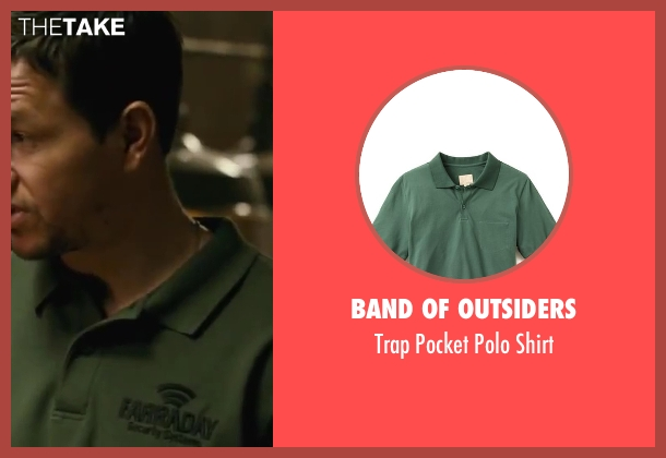 Band of Outsiders green shirt from Contraband seen with Mark Wahlberg (Chris Farraday)