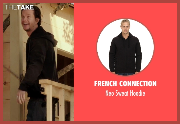 French Connection black hoodie from Daddy's Home seen with Mark Wahlberg (Dusty Mayron)