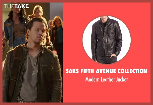MICHAEL Michael Kors black jacket from Daddy's Home seen with Mark Wahlberg (Dusty Mayron)