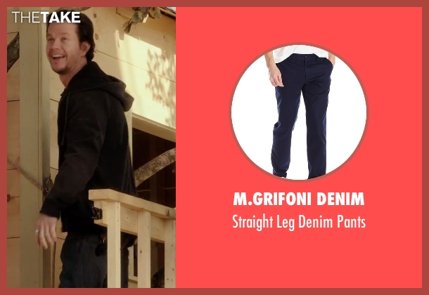 M.Grifoni Denim blue pants from Daddy's Home seen with Mark Wahlberg (Dusty Mayron)