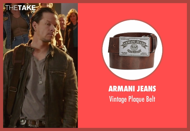 Armani Jeans brown belt from Daddy's Home seen with Mark Wahlberg (Dusty Mayron)
