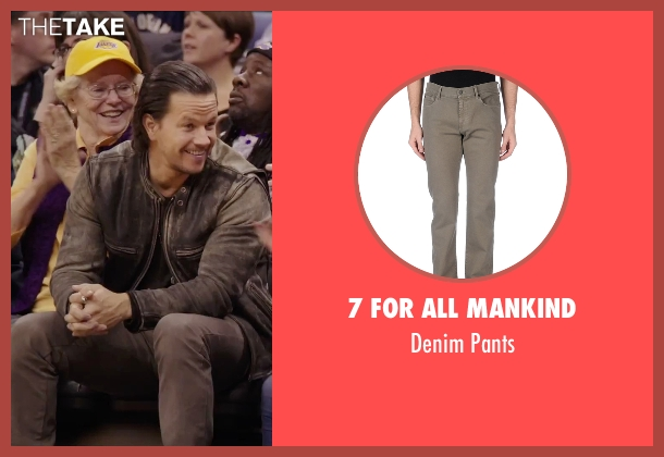 7 For All Mankind gray pants from Daddy's Home seen with Mark Wahlberg (Dusty Mayron)