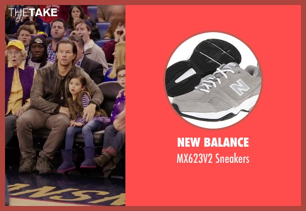 New Balance gray sneakers from Daddy's Home seen with Mark Wahlberg (Dusty Mayron)