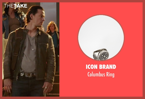 Icon Brand silver ring from Daddy's Home seen with Mark Wahlberg (Dusty Mayron)