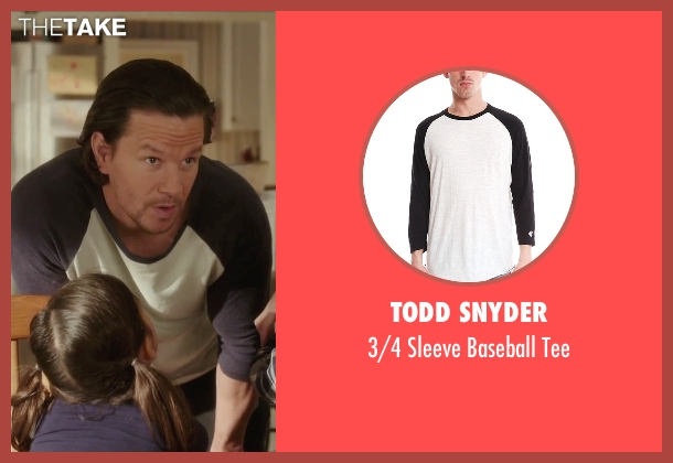 Todd Snyder white tee from Daddy's Home seen with Mark Wahlberg (Dusty Mayron)