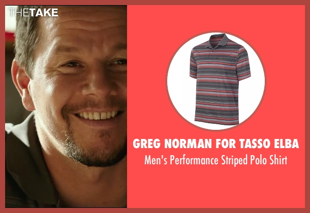 Greg Norman for Tasso Elba gray shirt from Deepwater Horizon seen with Mark Wahlberg (Mike Williams)