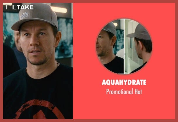 AquaHydrate gray hat from Entourage seen with Mark Wahlberg