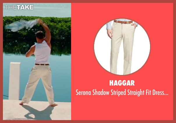 Haggar beige pants from Pain & Gain seen with Mark Wahlberg (Daniel Lugo)