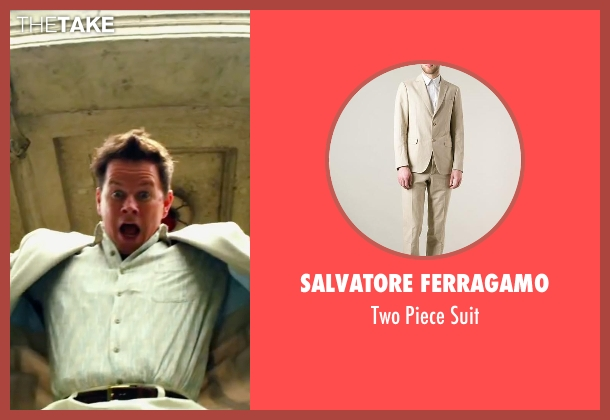 Salvatore Ferragamo beige suit from Pain & Gain seen with Mark Wahlberg (Daniel Lugo)