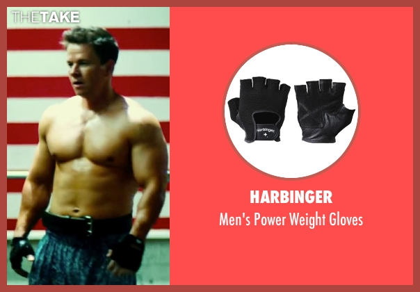 Harbinger black gloves from Pain & Gain seen with Mark Wahlberg (Daniel Lugo)