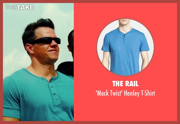 The Rail blue t-shirt from Pain & Gain seen with Mark Wahlberg (Daniel Lugo)