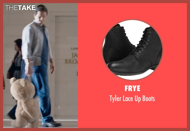 Frye black boots from Ted 2 seen with Mark Wahlberg (John Bennett)