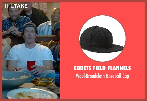 Ebbets Field Flannels black cap from Ted 2 seen with Mark Wahlberg (John Bennett)