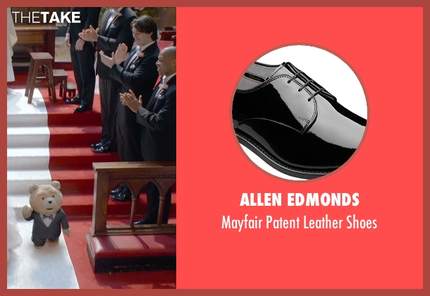 Allen Edmonds black shoes from Ted 2 seen with Mark Wahlberg (John Bennett)