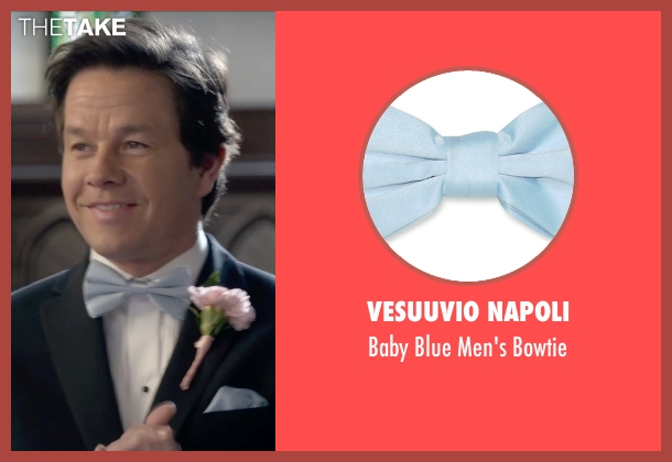 Vesuuvio Napoli blue bowtie from Ted 2 seen with Mark Wahlberg (John Bennett)