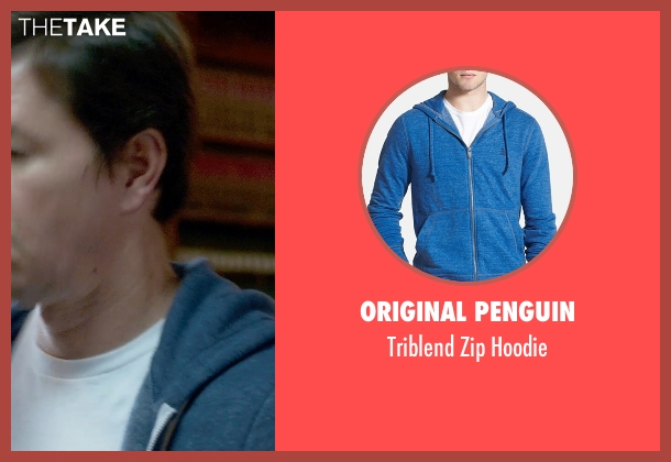 Original Penguin blue hoodie from Ted 2 seen with Mark Wahlberg (John Bennett)