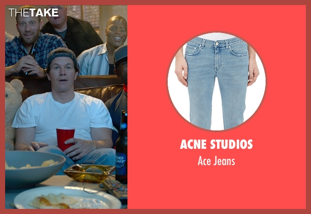 Acne Studios blue jeans from Ted 2 seen with Mark Wahlberg (John Bennett)