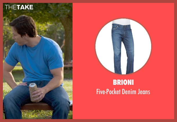 Brioni	 blue jeans from Ted 2 seen with Mark Wahlberg (John Bennett)