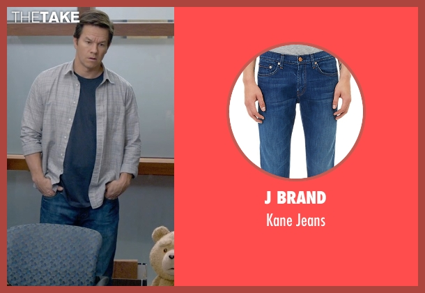 J Brand blue jeans from Ted 2 seen with Mark Wahlberg (John Bennett)