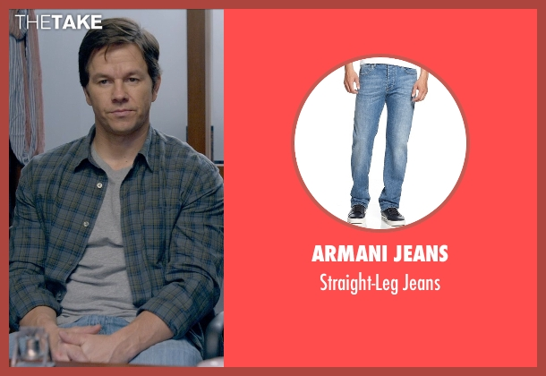 Armani Jeans blue jeans from Ted 2 seen with Mark Wahlberg (John Bennett)