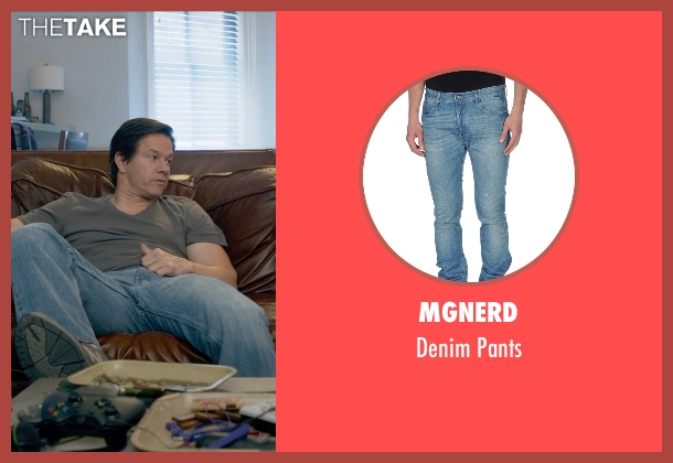 MGNERD blue pants from Ted 2 seen with Mark Wahlberg (John Bennett)