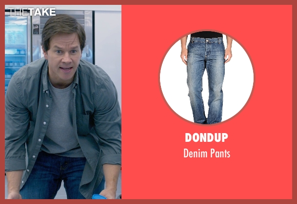 Dondup blue pants from Ted 2 seen with Mark Wahlberg (John Bennett)