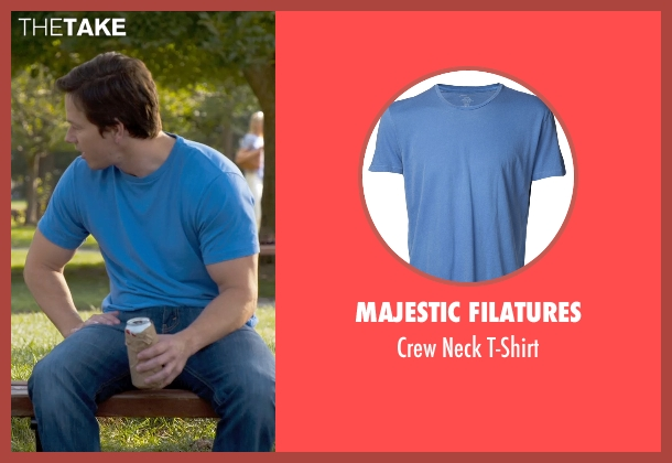 Majestic Filatures blue t-shirt from Ted 2 seen with Mark Wahlberg (John Bennett)