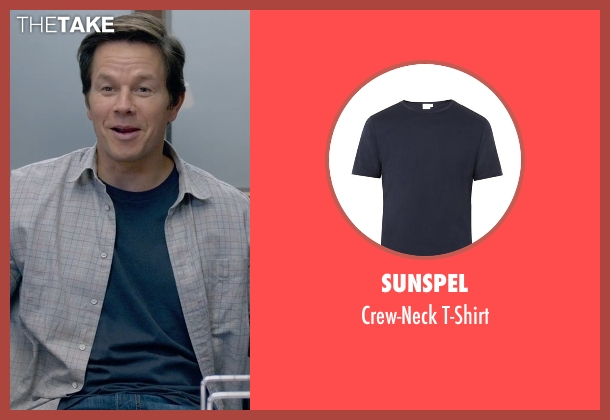 Sunspel blue t-shirt from Ted 2 seen with Mark Wahlberg (John Bennett)