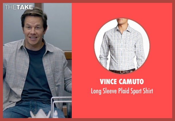 Vince Camuto gray shirt from Ted 2 seen with Mark Wahlberg (John Bennett)
