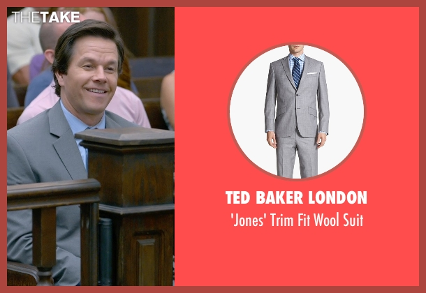 Ted Baker London gray suit from Ted 2 seen with Mark Wahlberg (John Bennett)