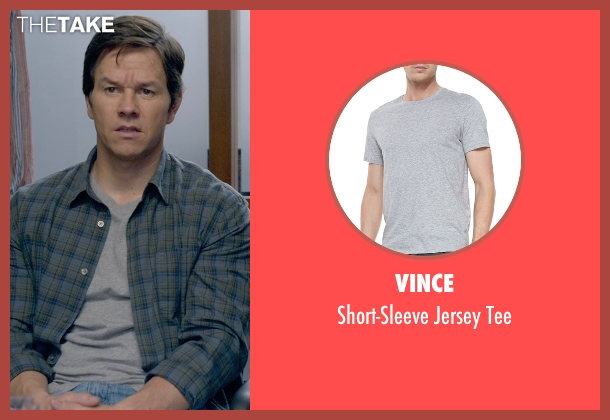 Vince gray tee from Ted 2 seen with Mark Wahlberg (John Bennett)