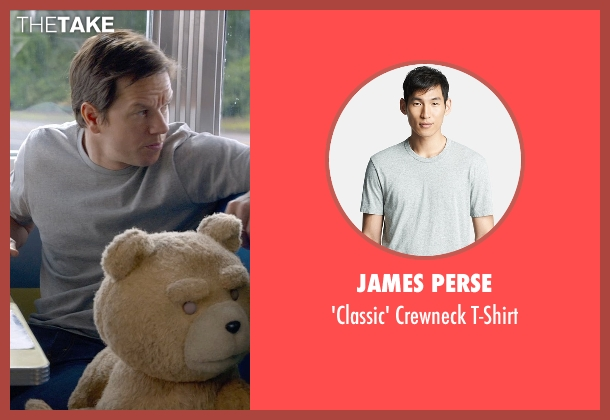James Perse gray t-shirt from Ted 2 seen with Mark Wahlberg (John Bennett)