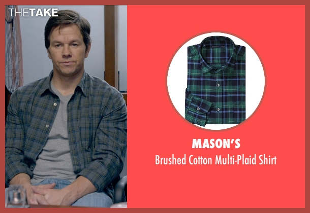 Mason's green shirt from Ted 2 seen with Mark Wahlberg (John Bennett)