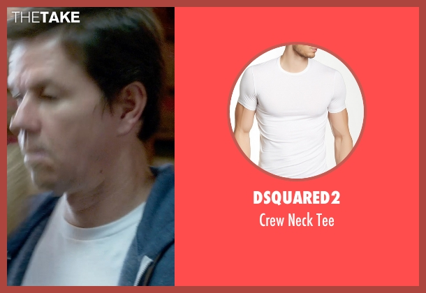 Dsquared2 white tee from Ted 2 seen with Mark Wahlberg (John Bennett)