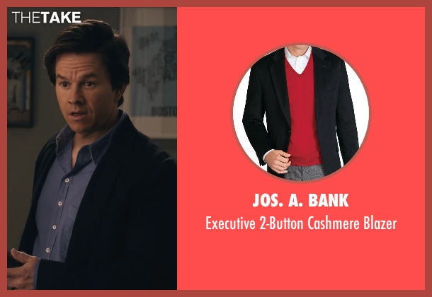 Jos. A. Bank black blazer from Ted seen with Mark Wahlberg (John Bennett)