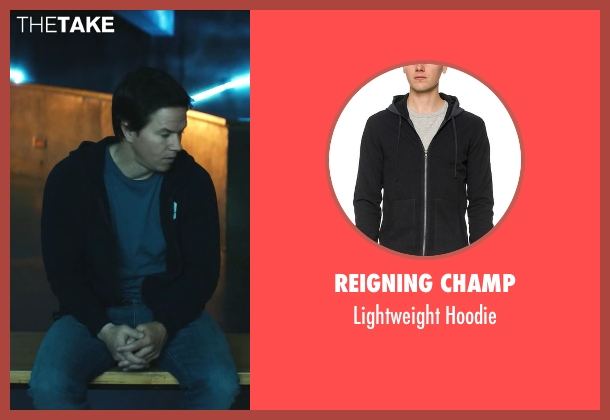 Reigning Champ black hoodie from Ted seen with Mark Wahlberg (John Bennett)