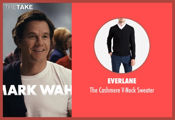 Everlane black sweater from Ted seen with Mark Wahlberg (John Bennett)