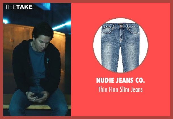 Nudie Jeans Co. blue jeans from Ted seen with Mark Wahlberg (John Bennett)