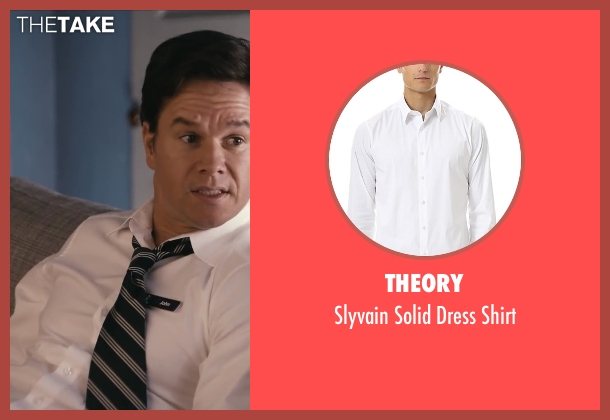 Theory white shirt from Ted seen with Mark Wahlberg (John Bennett)