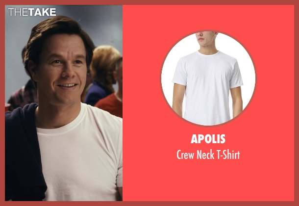 Apolis white t-shirt from Ted seen with Mark Wahlberg (John Bennett)