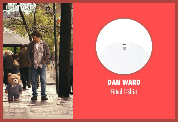 Dan Ward white t-shirt from Ted seen with Mark Wahlberg (John Bennett)