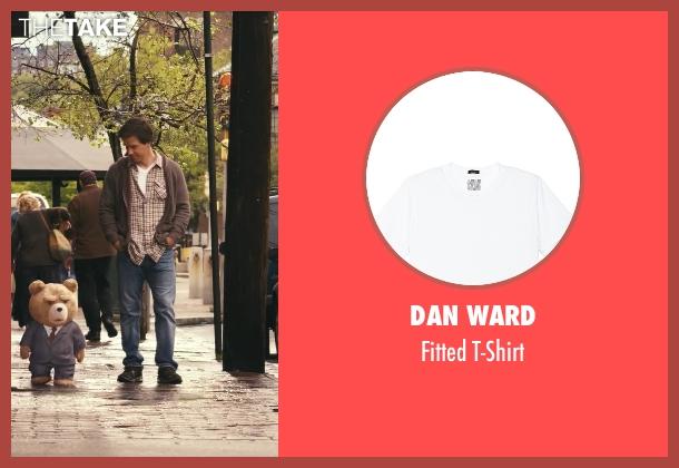 Dan Ward white t-shirt from Ted seen with Mark Wahlberg (John Bennett)