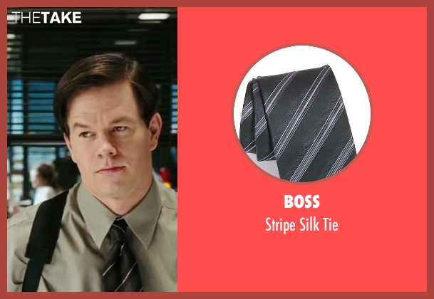 Boss gray tie from The Departed seen with Mark Wahlberg (Dignam)