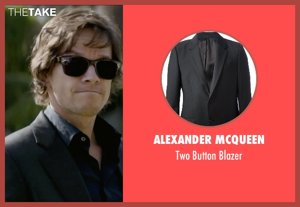 Alexander Mcqueen black blazer from The Gambler seen with Mark Wahlberg (Jim Bennett)
